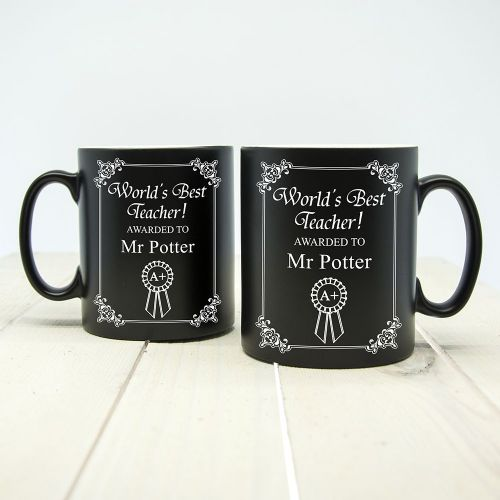 World's Best Teacher Award Matte Coloured Mug (choice of colour)